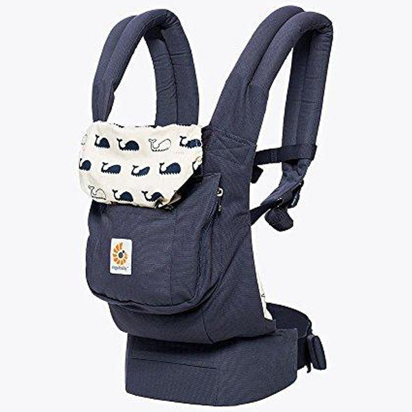 3-Position Baby Carrier with Lumbar Support and Storage Pocket