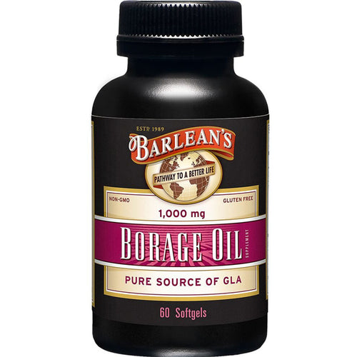 Organic Oils Borage Oil, 1000 mg. 60 Count, Bottle