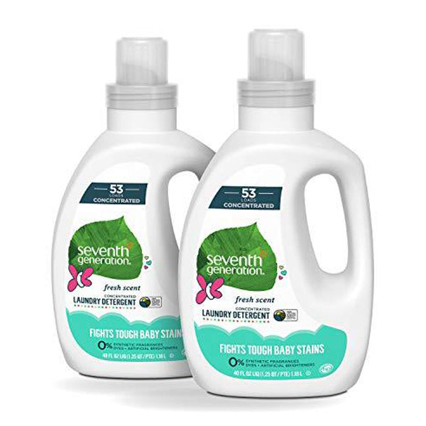 Baby Concentrated Laundry Detergent, Fresh Scent, 40 oz, 2 Pack