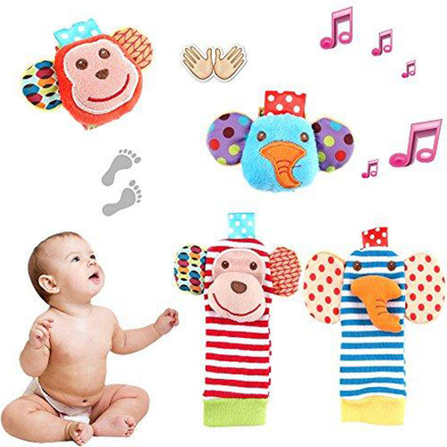 Baby Socks Toys, Wrist Rattle & Foot Rattles