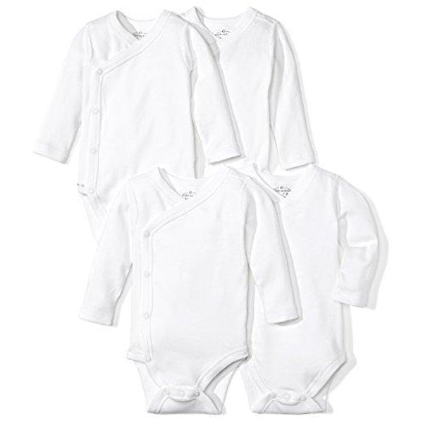 Baby Set: 4 Organic Long-Sleeve Bodysuits, 0-3 Months