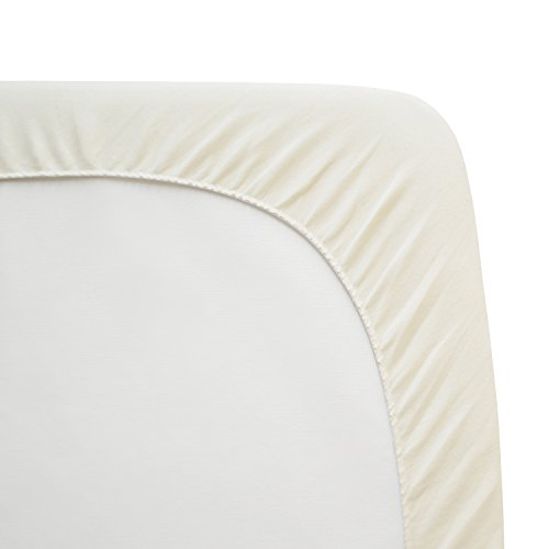 Twin Pack Knit Fitted Natural Color Sheet - Organic Cotton