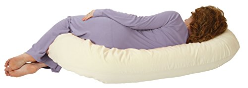 Snoogle Total Body Pregnancy Pillow, 100% Organic Cotton