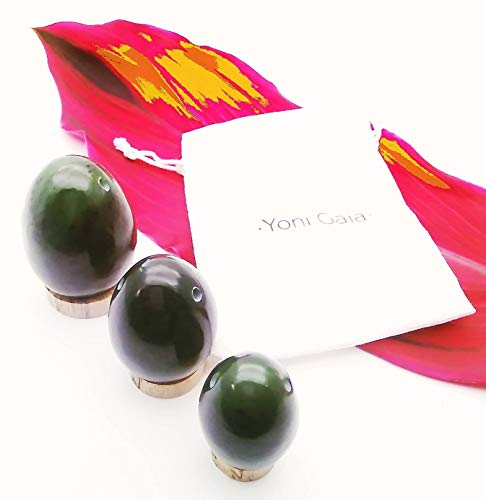Egg Set • 3-Piece Nephrite Jade