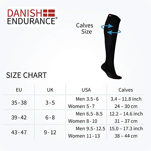 Organic Graduated Compression Socks (Black 1 Pair, US Women 8-10 // US Men 6.5-8.5)