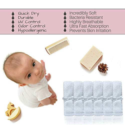 Ultra Soft Bamboo Wash Clothes For Baby's Face