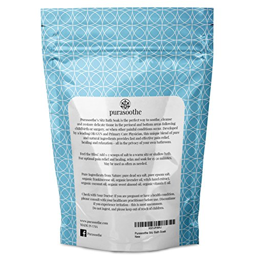 Organic Sitz Bath Soak 32oz (2 lbs) 100% Natural
