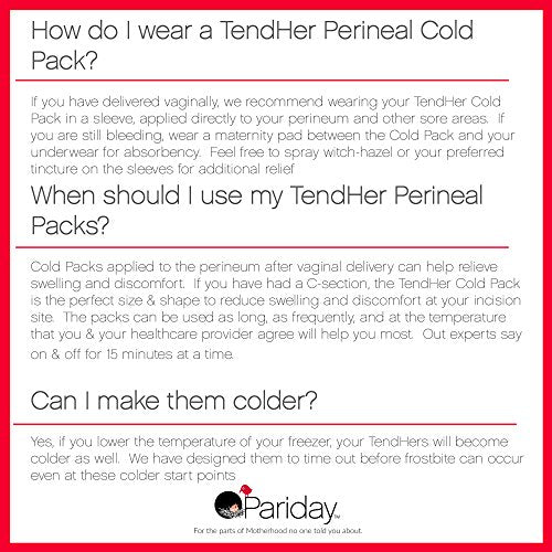 TendHer Reusable Perineal Cooling Pad for Postpartum & Hemorrhoid Pain Relief