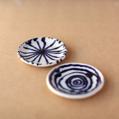 Blue and White Small Round Dish