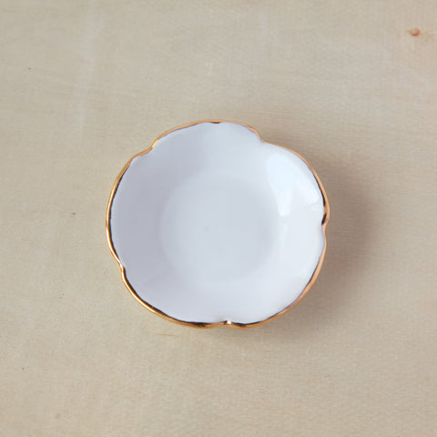 Flower Ring Dish - Gold Edge