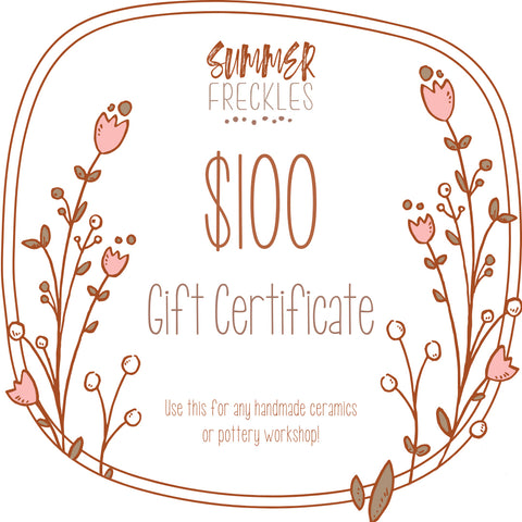 Summer Freckles Gift Certificate $100 value