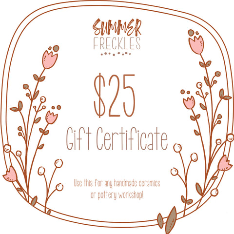 Summer Freckles Gift Certificate $25 value
