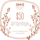 Summer Freckles Gift Certificate $50 value