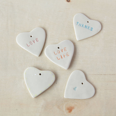Ceramic Gift Tags - Hearts