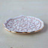Lace Ring Dish - Gold Edge