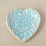 Lace Ring Dish - Heart Shaped
