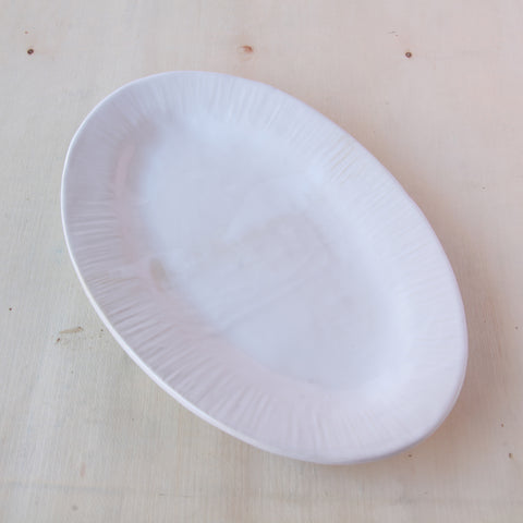 Oval Platter with Carved Edge