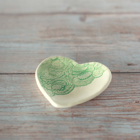 Pressed Lace Heart Dish