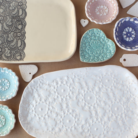 Pottery Workshop - Pressed Lace Dishes and Platters - Saturday 10th October and Saturday 24th October 2020