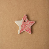 Pressed Lace Star Christmas Ornament