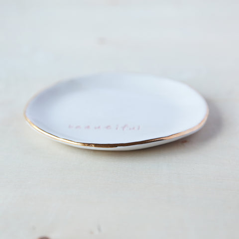 Ring Dishes with Gold Detail