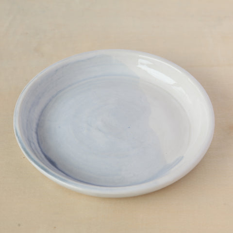 White and Egg Shell Blue Small Plate