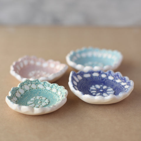 Pottery Workshop - Pressed Lace Dishes and Platters - Sunday 18th October and Sunday 1st November 2020