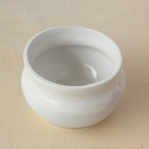 White and Egg Shell Blue Sugar Bowl
