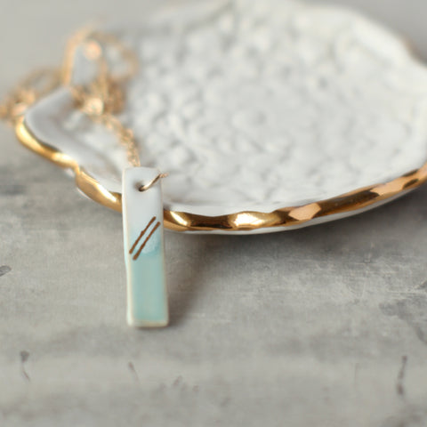 Life and Nature - Vertical Drop Pendant Necklace