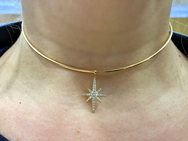 Gold Starburst Choker - Glamour Manor