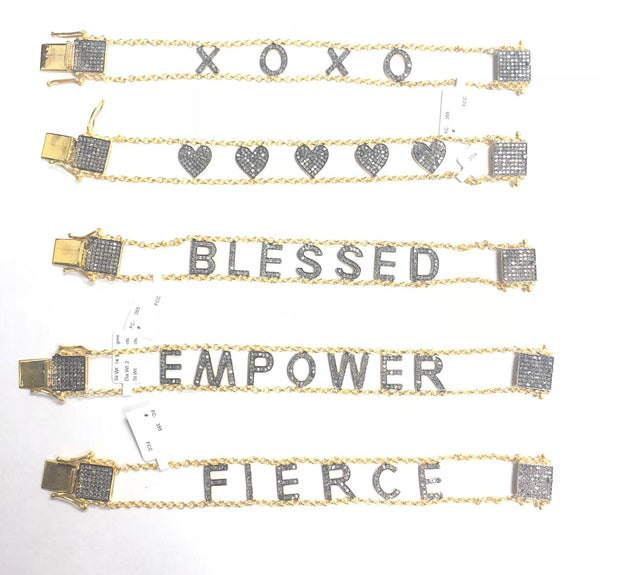 Diamond Message Bracelet - Glamour Manor