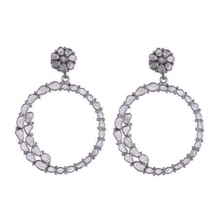 Sliced Diamond Earrings - Glamour Manor