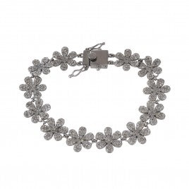 Diamond Flower Bracelet - Glamour Manor