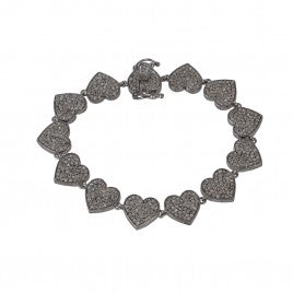Diamond Heart Bracelet - Glamour Manor