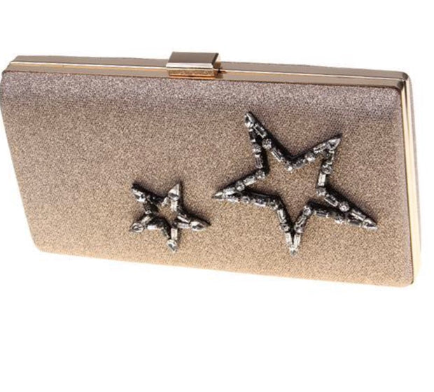 Star Struck Champagne Clutch - Glamour Manor