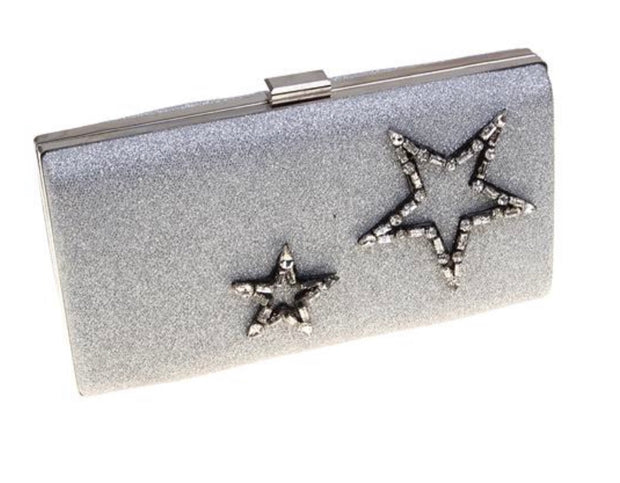 Star Struck Silver Clutch - Glamour Manor