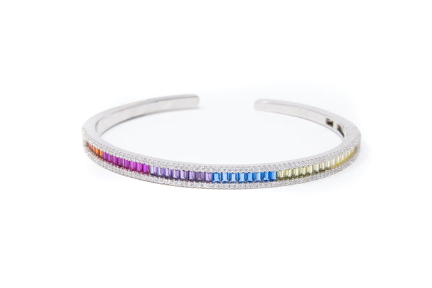 Rainbow Round Bangle - Glamour Manor