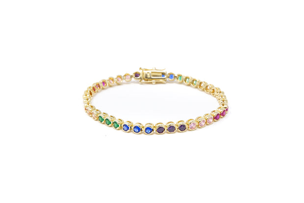 Multicolor Tennis Bracelet - Glamour Manor