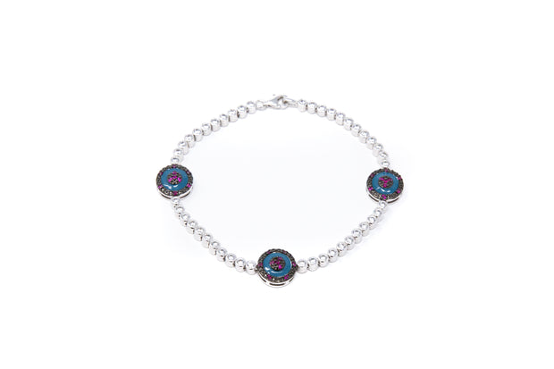 Triple Evil Eye bracelet - Glamour Manor