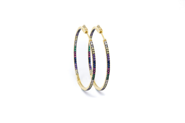 Multicolor Gold Vermeil Hoops - Glamour Manor