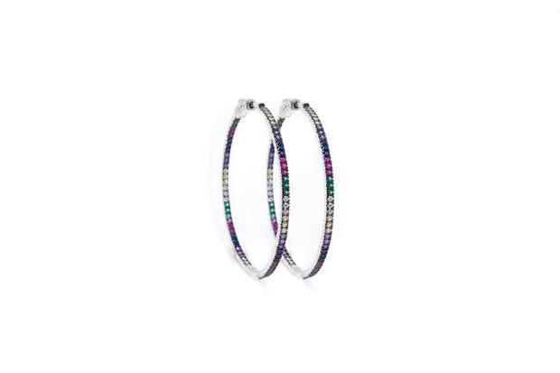 Multicolor Thin Hoops - Glamour Manor