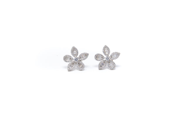 Baguette Flower Earrings - Glamour Manor