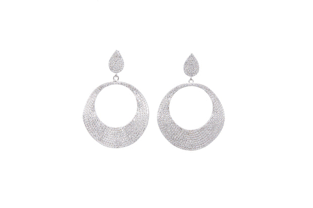 Disc Statement Earrings - Glamour Manor