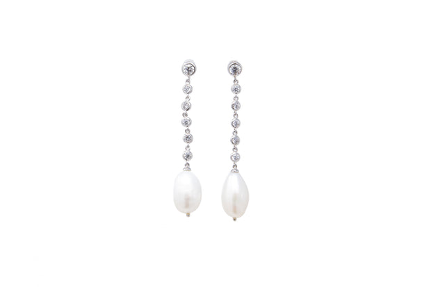 Dangling Faux Pearl Earrings - Glamour Manor