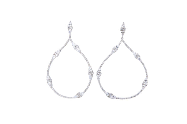 Teardrop Statement Earrings - Glamour Manor