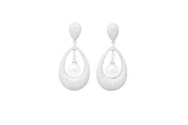 Faux Pearl Statement Earrings - Glamour Manor