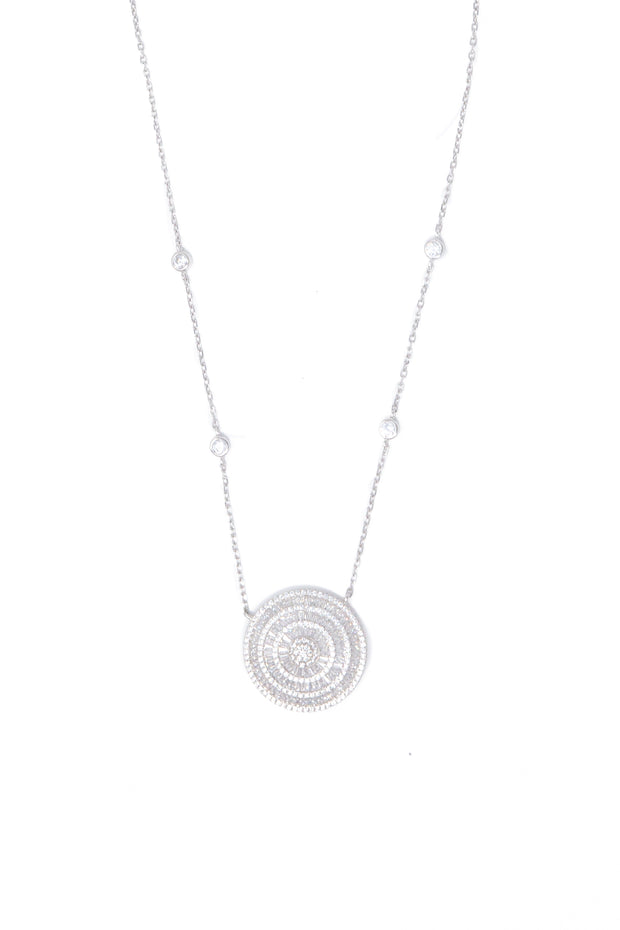 Circle Pendant Necklace - Glamour Manor