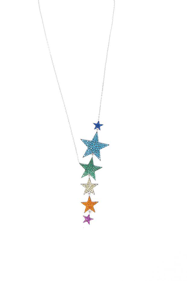 Multicolor Star Necklace - Glamour Manor