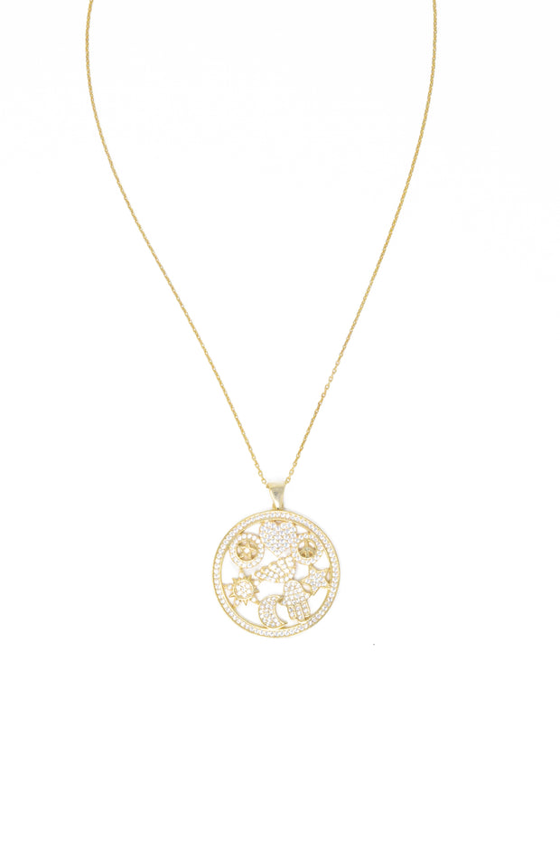 Gold Vermeil Good Luck Charm Necklace - Glamour Manor