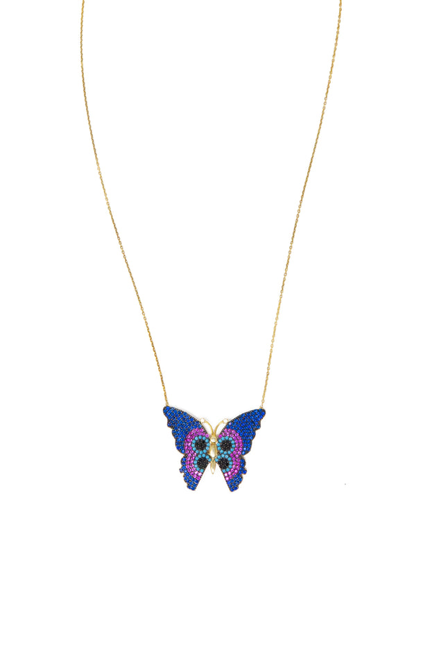 Butterfly Necklace - Glamour Manor